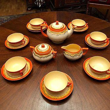 Посуда ручной работы. Ярмарка Мастеров - ручная работа Чайный сервиз Европа 1960. Handmade.
