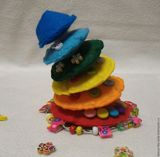 Развивающие игрушки ручной работы. Ярмарка Мастеров - ручная работа. Купить Веселая пирамидка. Handmade. Комбинированный, игрушка для детей