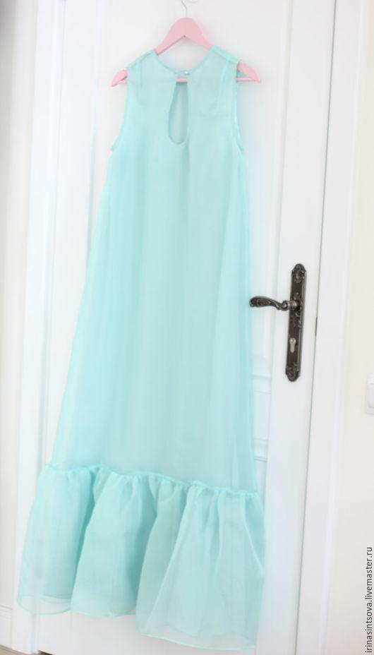 Платья ручной работы. Ярмарка Мастеров - ручная работа. Купить Платье из шелка и органзы. Handmade. Платье, нарядное платье, irinasintsova