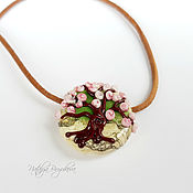 Украшения ручной работы. Ярмарка Мастеров - ручная работа Кулон Розовый цвет. Handmade.