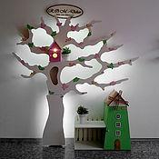 Для дома и интерьера ручной работы. Ярмарка Мастеров - ручная работа Асимметричное дерево-стеллаж с подсветкой. Handmade.