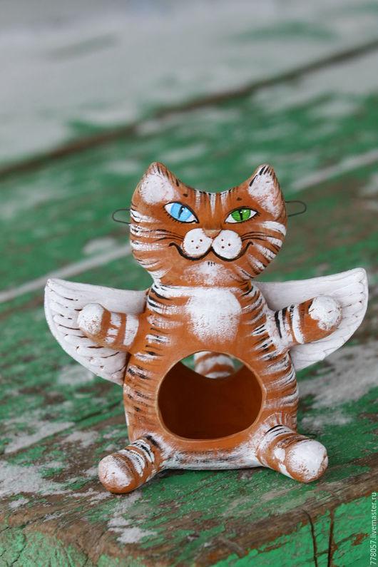 """Экстерьер и дача ручной работы. Ярмарка Мастеров - ручная работа. Купить Кормушка для птиц """"Я просто ангел"""". Handmade. Оранжевый"""