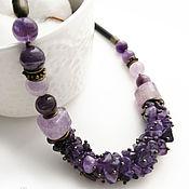 Украшения handmade. Livemaster - original item Necklace with amethyst