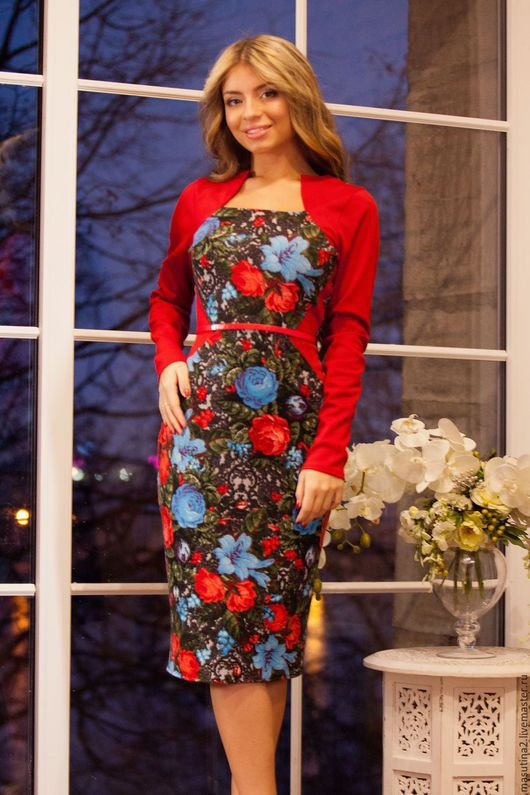 """Платья ручной работы. Ярмарка Мастеров - ручная работа. Купить Платье """"Закат"""". Handmade. Комбинированный, цветочный принт"""