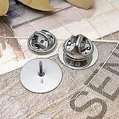 Материалы для творчества handmade. Livemaster - original item Brooch base (badge) 15 mm (3437). Handmade.