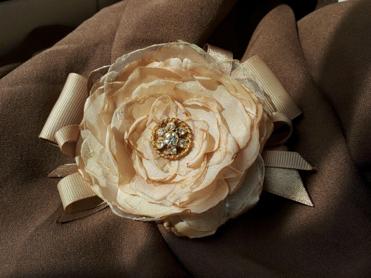 Брошь цветок из ткани купить москва, доставка брянск советский