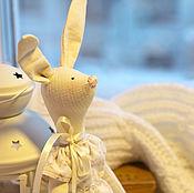 Куклы и игрушки ручной работы. Ярмарка Мастеров - ручная работа Зайка в пижамке. Handmade.