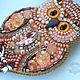 Brooch-pin: OWL. Brooches. helgaboho. My Livemaster. Фото №4