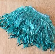 Материалы для творчества handmade. Livemaster - original item Mohair tress (blue) (for dolls). Handmade.