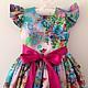 """Одежда для девочек, ручной работы. Familylook """"Сказочные цветы"""". By_belyaeva_natali. Ярмарка Мастеров. Платье, юбка миди, детская одежда"""