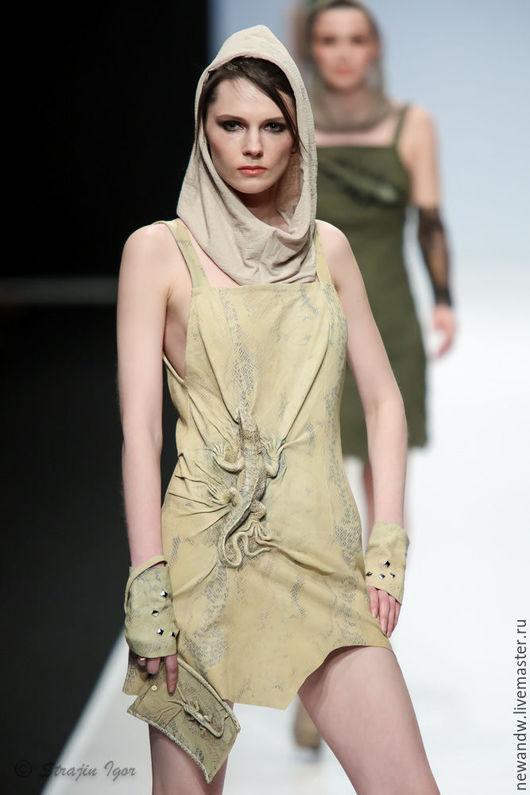 """Платья ручной работы. Ярмарка Мастеров - ручная работа. Купить 3D Платье из натуральной кожи """"Ящерица"""". Handmade. 3d, выпускной"""