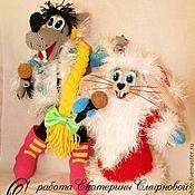 """Куклы и игрушки ручной работы. Ярмарка Мастеров - ручная работа Дед Мороз и Снегурочка волк и заяц из Ну погоди """"Расскажи, Снегурочка"""". Handmade."""
