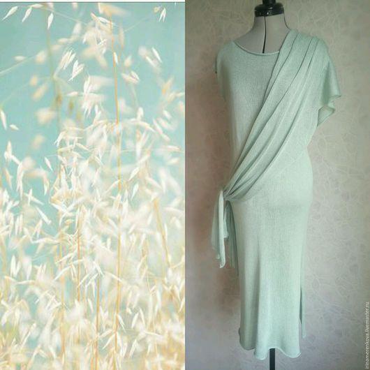 Платья ручной работы. Ярмарка Мастеров - ручная работа. Купить Платье из 100% шелка НЕВЕСОМОСТЬ длинное вязаное шелковое. Handmade.