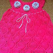 Работы для детей, ручной работы. Ярмарка Мастеров - ручная работа Платье с розочками. Handmade.