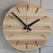 Часы классические ручной работы. Ярмарка Мастеров - ручная работа Часы настенные из бука (№7). Handmade.