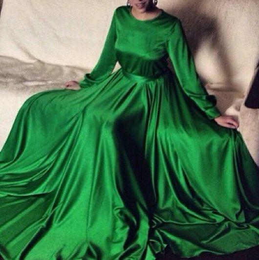 Платья ручной работы. Ярмарка Мастеров - ручная работа. Купить Длинное платье из шелка. Handmade. Длинное платье в пол