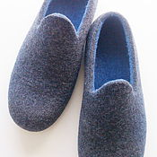 Slippers handmade. Livemaster - original item Sneaker men`s felted. Handmade.