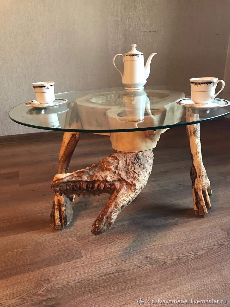 самые известные необычные столы из дерева фото нашей