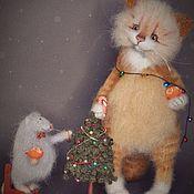 handmade. Livemaster - original item Yeah, the tree is decorated, eating tangerines. Handmade.
