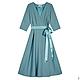 Платья ручной работы. Ярмарка Мастеров - ручная работа. Купить Платье из шерсти. Handmade. Тёмно-бирюзовый, платье, шерстяное платье