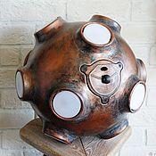 "Для дома и интерьера handmade. Livemaster - original item Chandelier ""Space Bomb. Copper. Vintage"". Handmade."