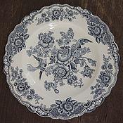 """Винтаж ручной работы. Ярмарка Мастеров - ручная работа Большие тарелки 25см  """"Bristol"""" Crown Ducal , Англия. Handmade."""