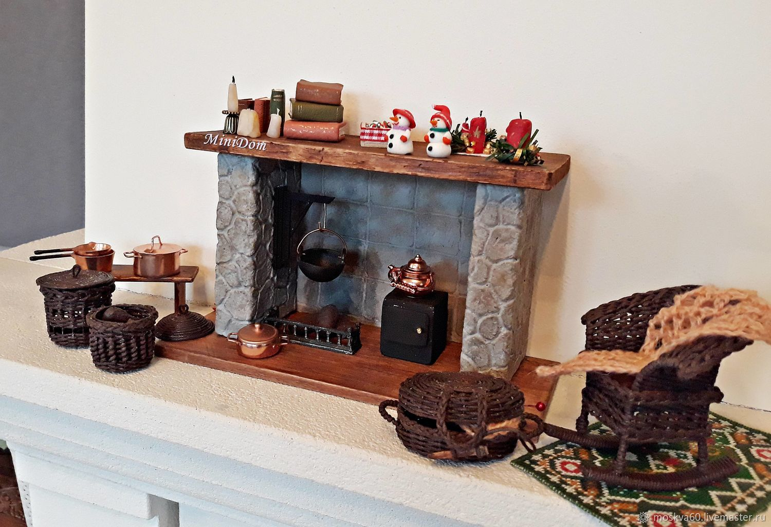 Fireplace - miniature for dolls and doll houses – shop online on Livemaster  with shipping - EMN8BCOM | Moscow