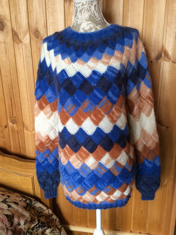 Модный свитер для девушки в технике энтерлак, Свитеры, Москва,  Фото №1