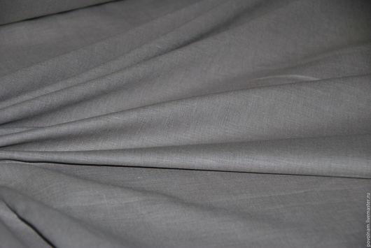 """Шитье ручной работы. Ярмарка Мастеров - ручная работа. Купить Лён-хлопок """"Перламутрово-серый"""" мягкий. Handmade. Серый"""