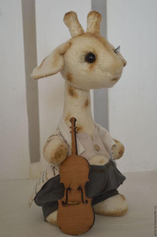 Мишки Тедди ручной работы. Ярмарка Мастеров - ручная работа. Купить Музыкант. Handmade. Бежевый, тедди, жираф, батист