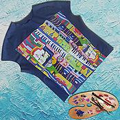"""Одежда ручной работы. Ярмарка Мастеров - ручная работа Туника """"Ночной город"""" (батик). Handmade."""