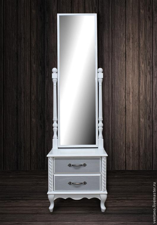 """Мебель ручной работы. Ярмарка Мастеров - ручная работа. Купить Тумба с зеркалом """"Мечта"""". Handmade. Белый, тумба, ventano, дизайн"""