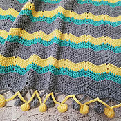 Для дома и интерьера handmade. Livemaster - original item Children`s knitted blanket, knitted blanket, blanket in the crib, crocheted blanket. Handmade.