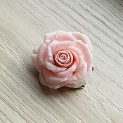 Украшения ручной работы. Ярмарка Мастеров - ручная работа Зажим с розой. Handmade.