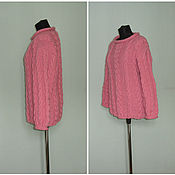 Одежда handmade. Livemaster - original item Knitted pink jumper