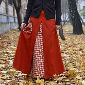 """Одежда ручной работы. Ярмарка Мастеров - ручная работа Теплая юбка из шерсти """"Лиска"""". Handmade."""