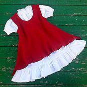 Платья ручной работы. Ярмарка Мастеров - ручная работа Сарафан и нижнее платье. Handmade.