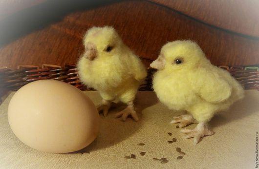 Игрушки животные, ручной работы. Ярмарка Мастеров - ручная работа. Купить Пасхальный цыпленок, сувенир из шерсти. Handmade. Желтый