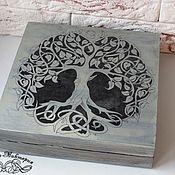 """Для дома и интерьера ручной работы. Ярмарка Мастеров - ручная работа Купюрница """"Серебряное дерево"""". Handmade."""