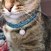 Зоотовары handmade. Livemaster - original item Collar Turquoise. Handmade.