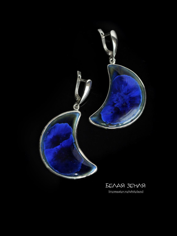 Porcelain earrings from the series ' Month of Juno', Earrings, Nizhneangarsk,  Фото №1