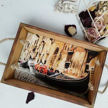 Для дома и интерьера ручной работы. Ярмарка Мастеров - ручная работа Венеция, поднос. Handmade.
