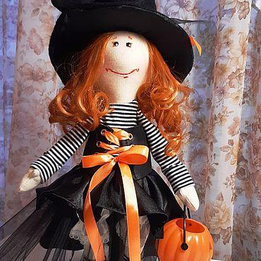 Куклы и игрушки ручной работы. Ярмарка Мастеров - ручная работа Ведьмочка в черном. Handmade.