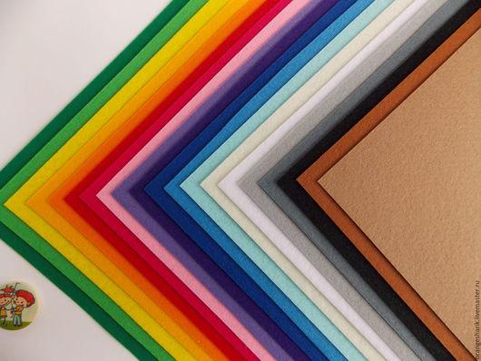 Другие виды рукоделия ручной работы. Ярмарка Мастеров - ручная работа. Купить Набор корейского фетра 1мм 20 цветов 20х30. Handmade.