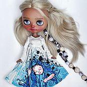 Куклы и игрушки handmade. Livemaster - original item Dress for Blythe doll hand painted. Handmade.