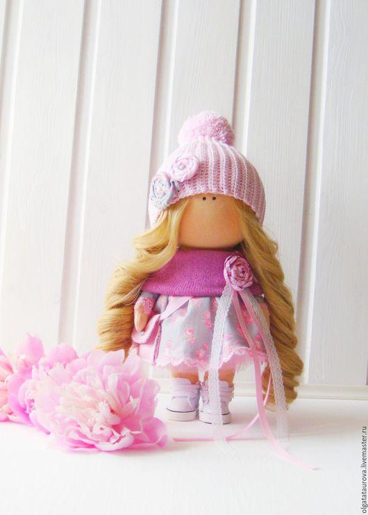 Коллекционные куклы ручной работы. Ярмарка Мастеров - ручная работа. Купить Интерьерная кукла. Handmade. Бледно-сиреневый, подарок, трикотаж