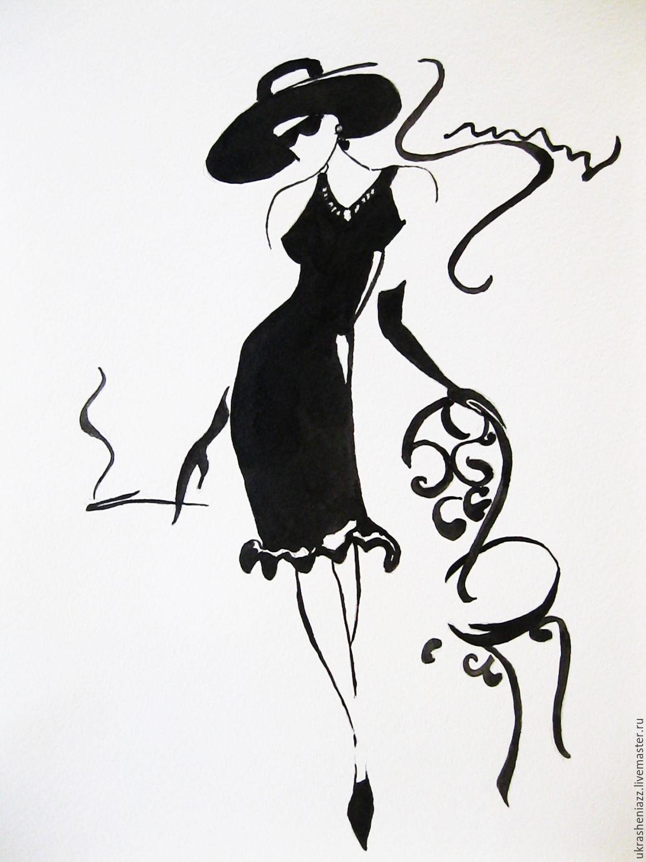 Открытки в черно белом стиле, открытки модерн