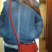 Винтажная одежда ручной работы. Ярмарка Мастеров - ручная работа Куртка Mustang на осень джинсовая  на меху       44-46. Handmade.
