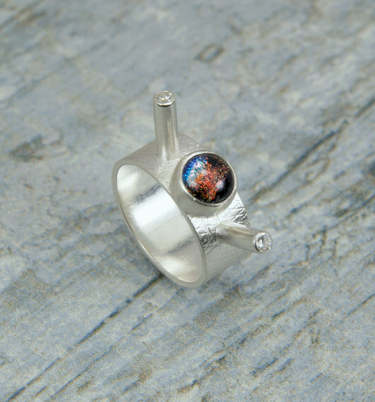 """Кольца ручной работы. Ярмарка Мастеров - ручная работа. Купить Серебряное кольцо """"Satellite"""" - ручная работа. Handmade. Кольцо из серебра"""