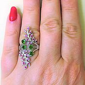 Rings handmade. Livemaster - original item Ring with natural stones